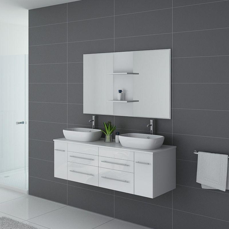 Meuble de salle de bain TRIVENTO Blanc