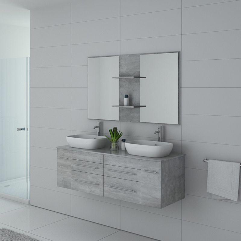 Meuble de salle de bain TRIVENTO béton
