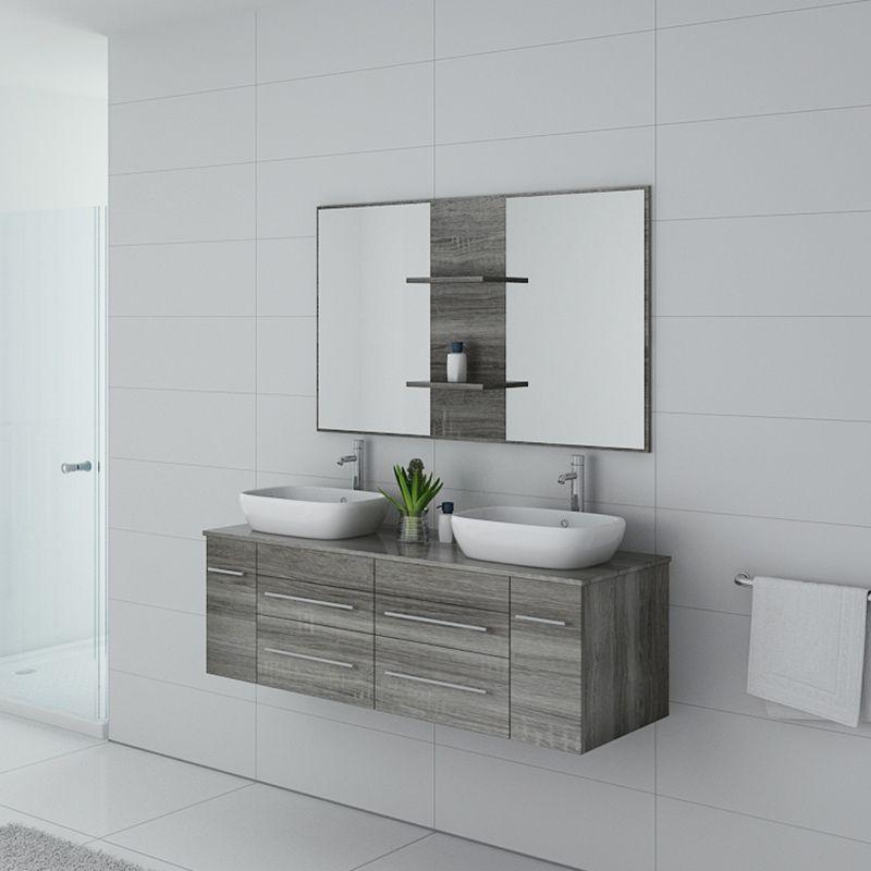 Meuble de salle de bain TRIVENTO Chêne gris