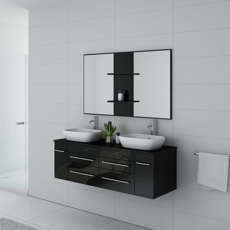 Meuble de salle de bain TRIVENTO Noir