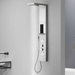 Colonne de douche hydromassante ES010 avec une étagère porte savon