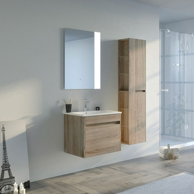 Meuble simple vasque BOVALINO 600 Scandinave
