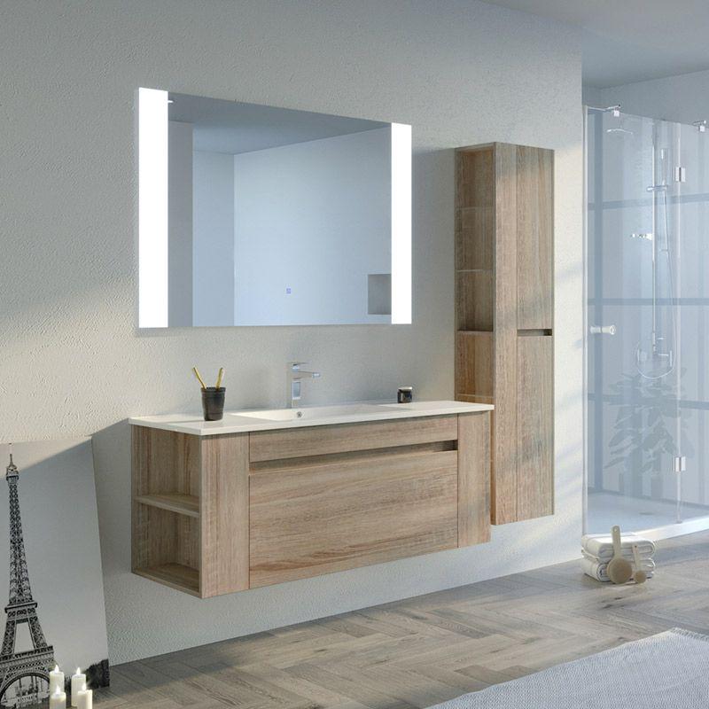 Meuble simple vasque BOVALINO 1200 Scandinave
