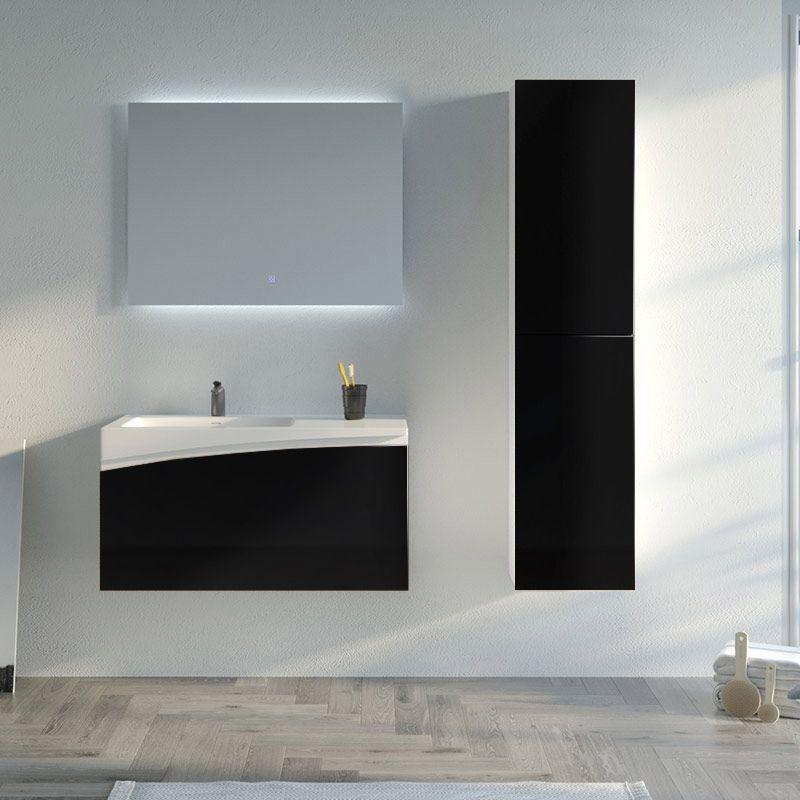 Meuble de salle de bain CAGLIARI 900 Noir