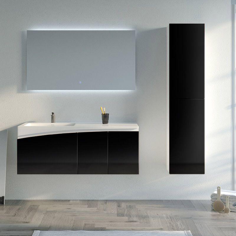 Meuble de salle de bain CAGLIARI 1200 Noir