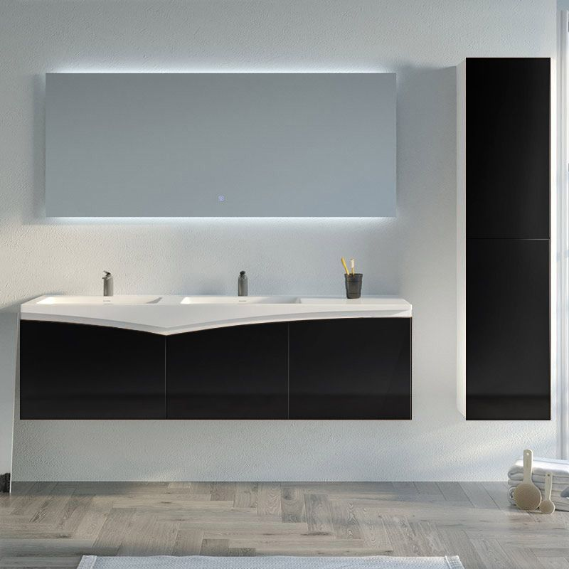 Meuble de salle de bain CAGLIARI 1600 Noir