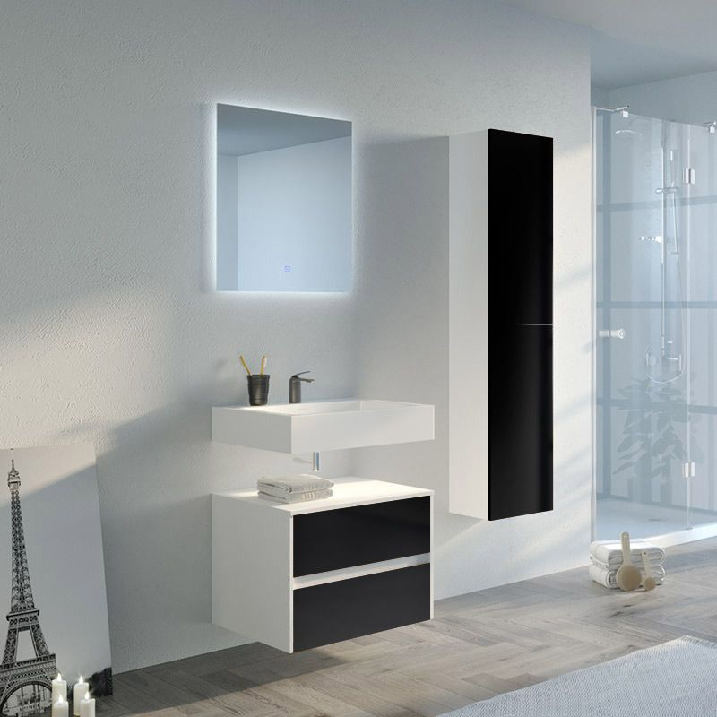 Meuble de salle de bain VISENZA 600 Noir