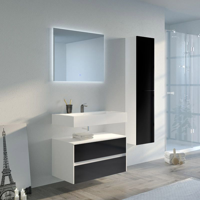 Meuble de salle de bain VISENZA 800 Noir