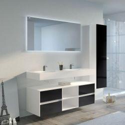 Meuble de salle de bain VISENZA 1400 Noir