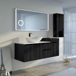 Meuble salle de bain AVEZZANO 1400 Noir