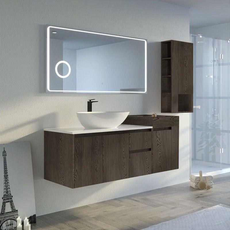 Meuble salle de bain AVEZZANO 1400 Chêne gris