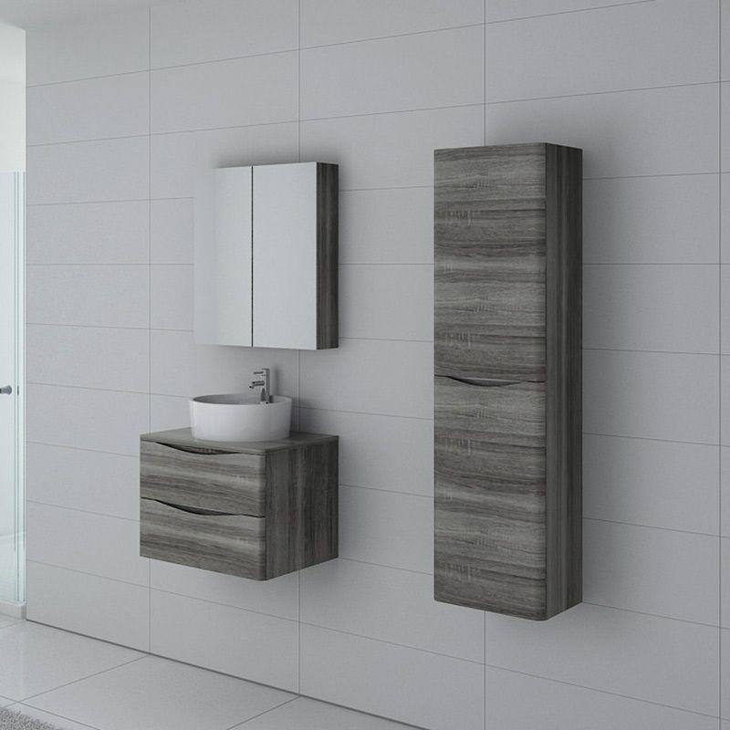 Meuble de salle de bain Terranova 600 Chêne gris
