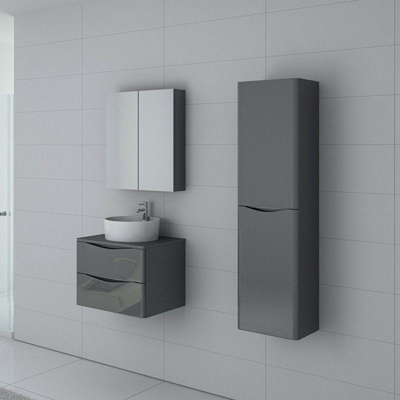 Meuble de salle de bain Terranova 600 Gris taupe