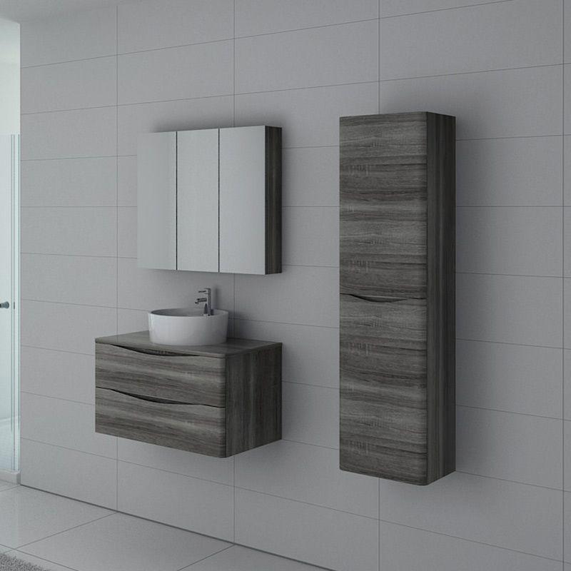 Meuble de salle de bain Terranova 800 Chêne gris