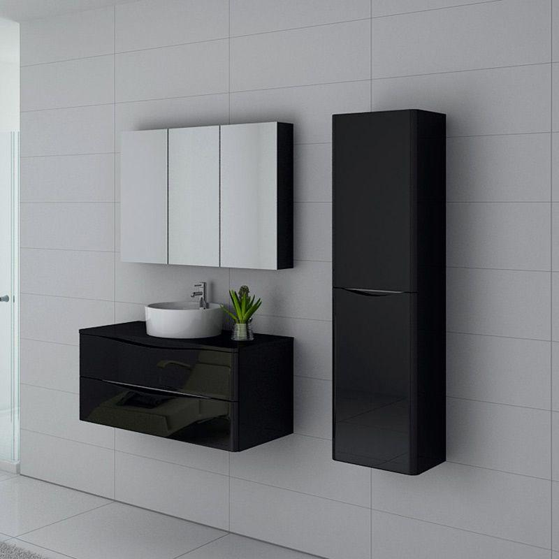 Meuble de salle de bain Terranova 1000 Noir