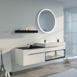 Meuble de salle de bain Eleganzza 1800 Blanc