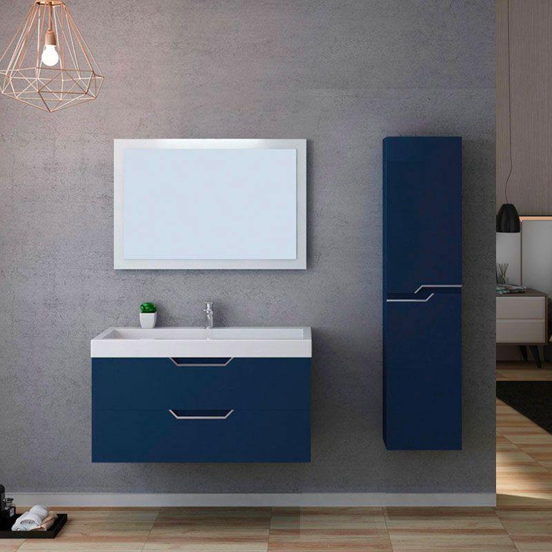 Meuble de salle de bain CALABRO 1000 Bleu saphir