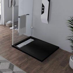 Receveur de douche à l'italienne Noir 100x90cm