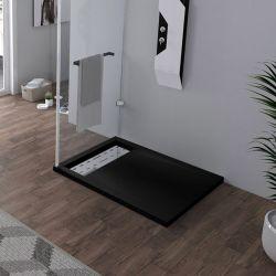Receveur de douche à l'italienne Noir 100x80cm
