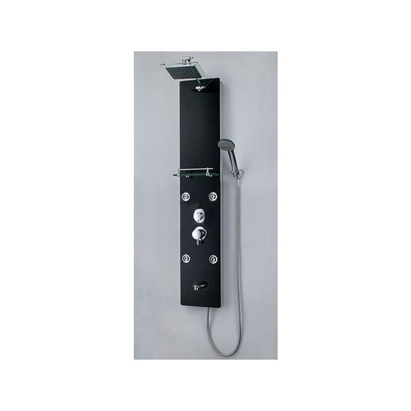 Colonne hydromassante noire avec tablette G-7867