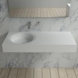 Plan vasque suspendu pour robinet mural SDBK800