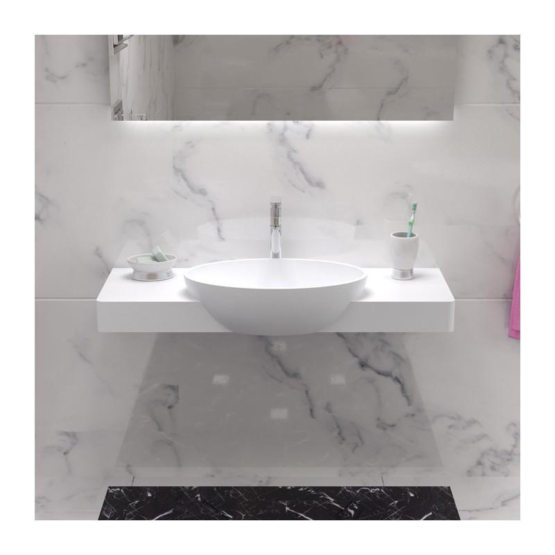 Plan vasque suspendu avec vasque ovale SDK4
