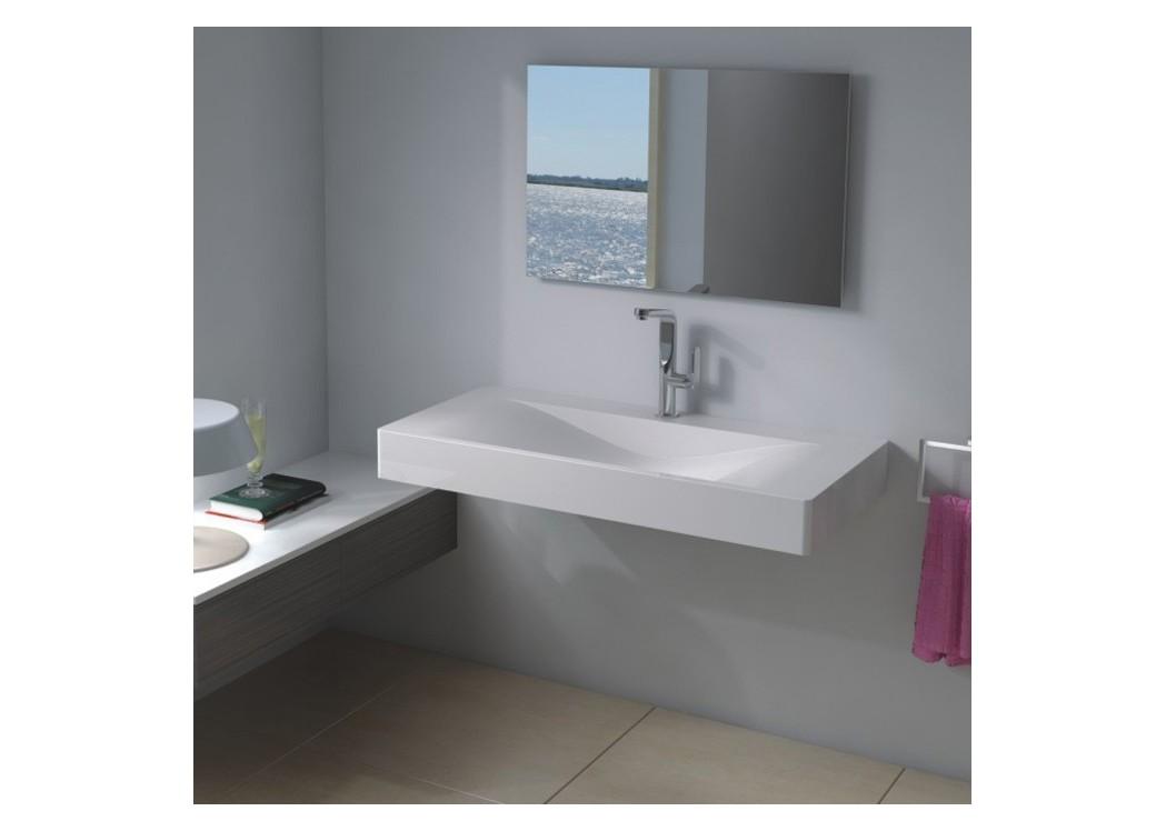 plan vasque mural en solid surface sdp03 b distribain. Black Bedroom Furniture Sets. Home Design Ideas