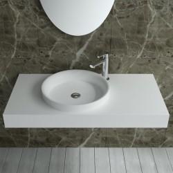 Plan vasque mural SDPW13-C à vasque ronde
