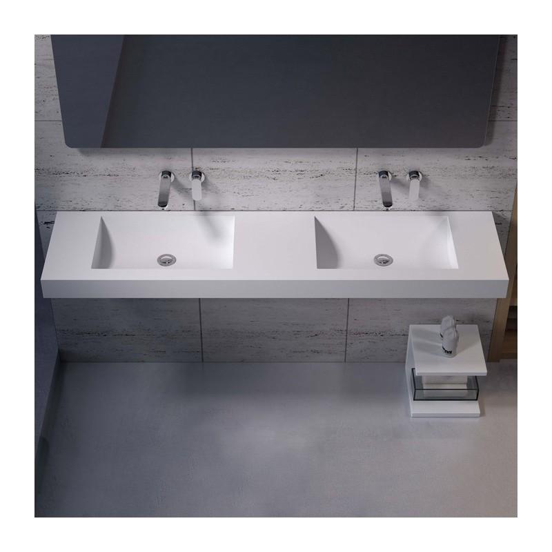 stunning meuble vasque deux robinets gallery. Black Bedroom Furniture Sets. Home Design Ideas
