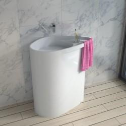 Vasque totem SDPW50 avec porte serviette et tablette
