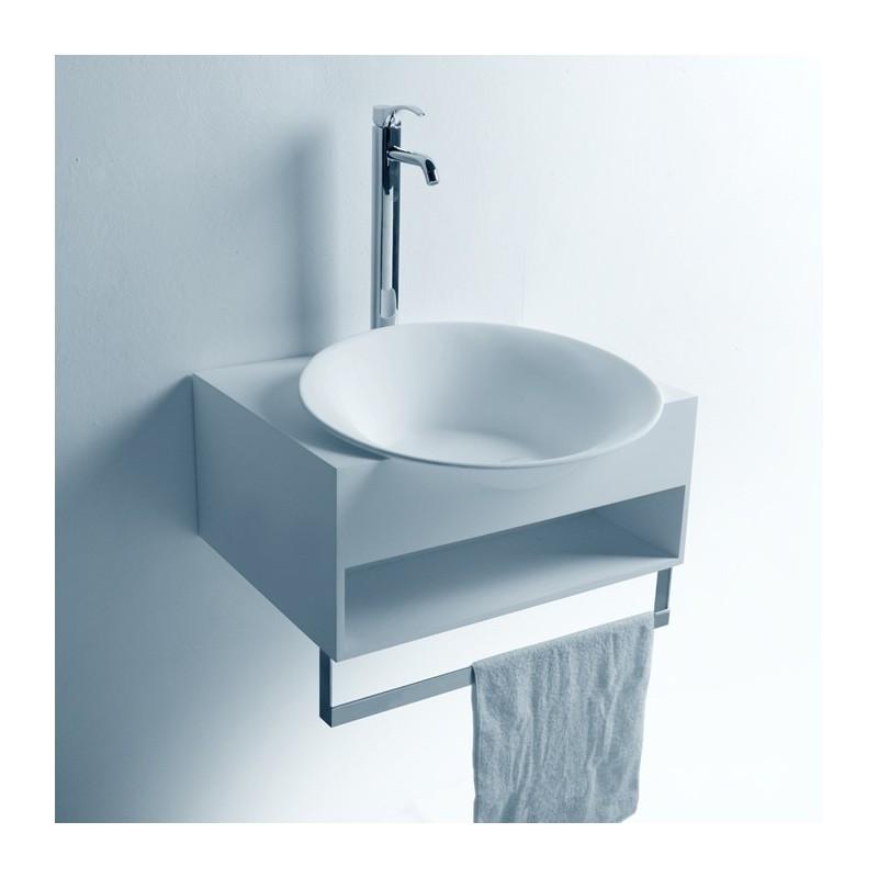 Fonctionnel le lave-mains SDWD3871-1 avec rangement et porte-serviette