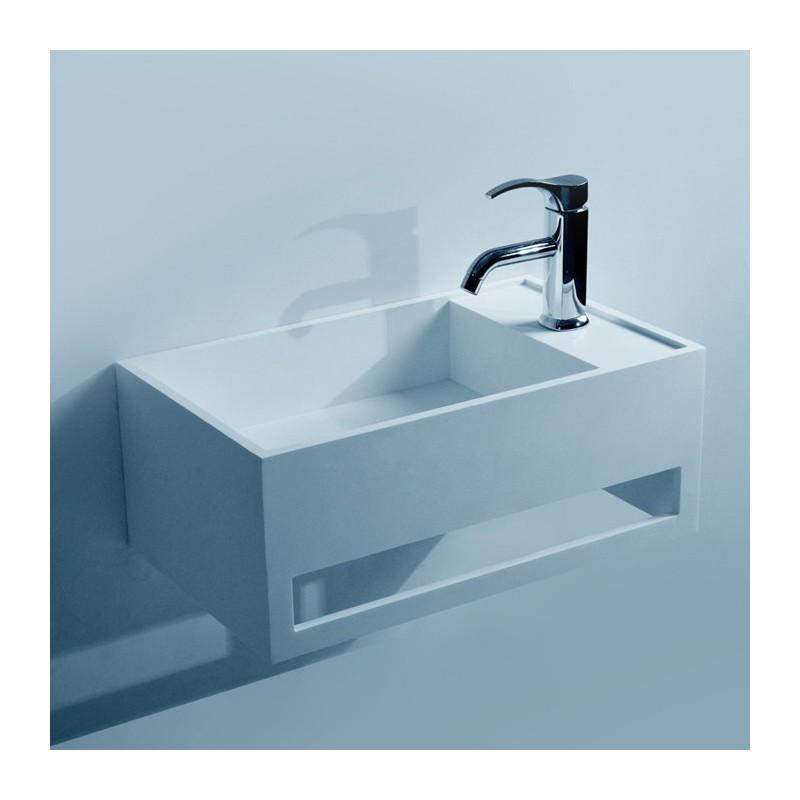 Lave-mains pour sanitaire SDWD3877 avec porte-serviette intégré