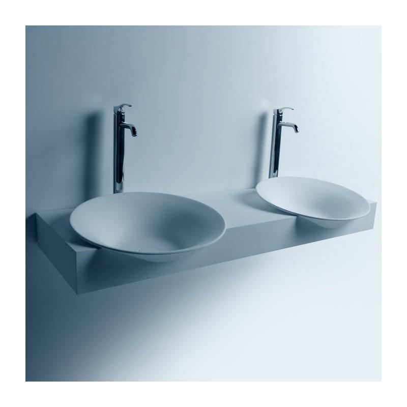 Double plan vasque à suspendre avec vasques rondes SDWD3888