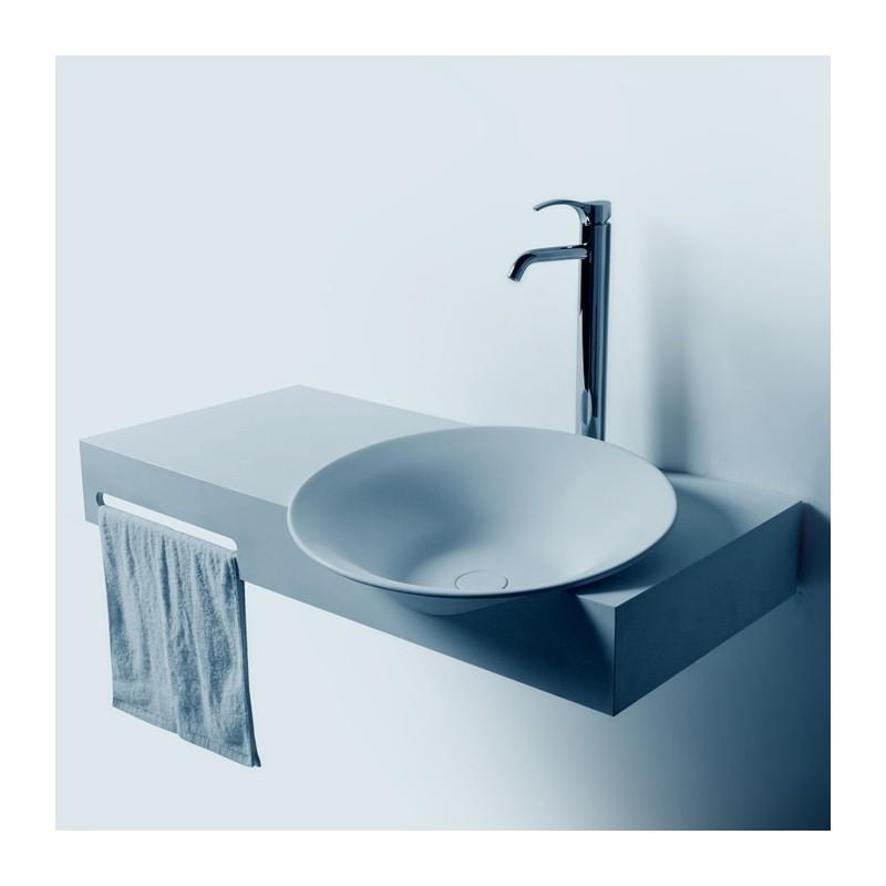 Plan vasque suspendu SDWD3889-1 avec porte-serviette intégré