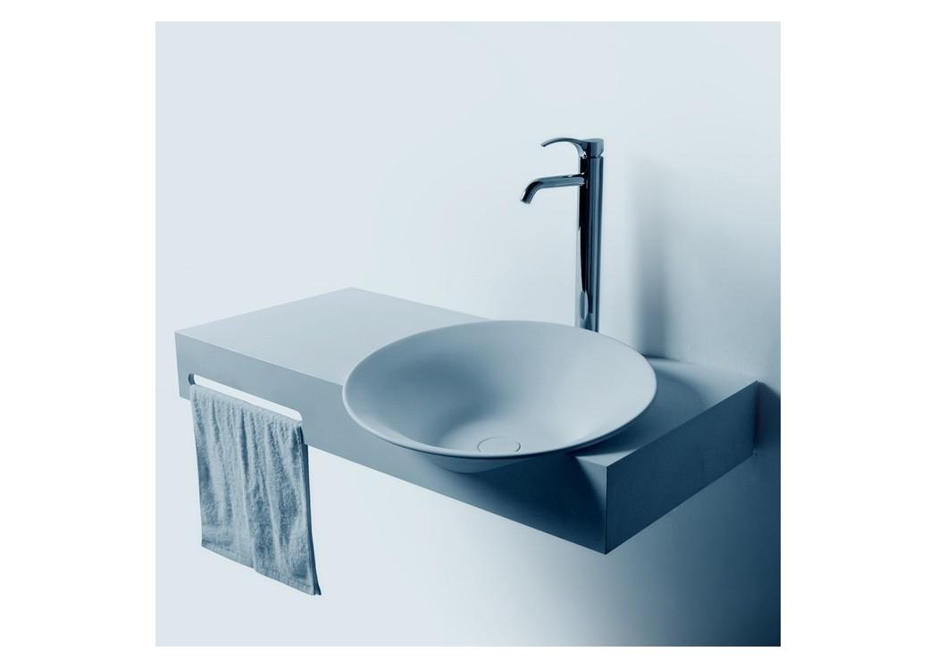plan vasque avec porte serviette et plan de toilette. Black Bedroom Furniture Sets. Home Design Ideas