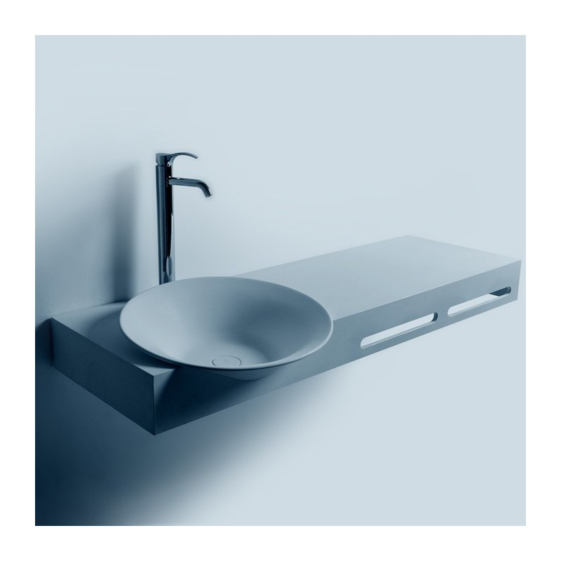 Plan vasque suspendu SDWD3890-1 avec deux portes-serviettes