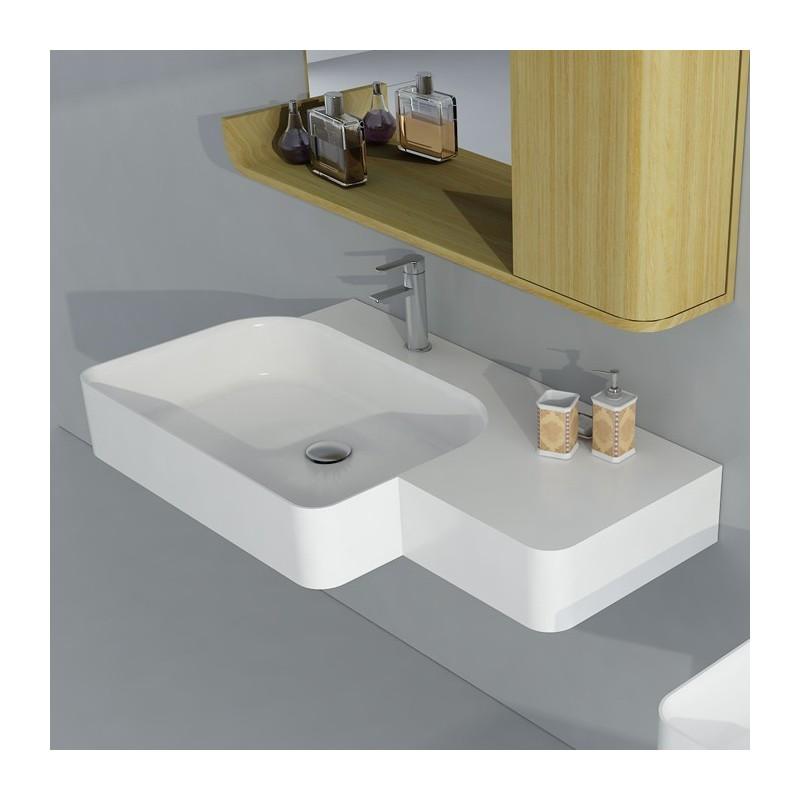 large plan vasque sdwd38186 plan vasque large en solid surface distribain. Black Bedroom Furniture Sets. Home Design Ideas