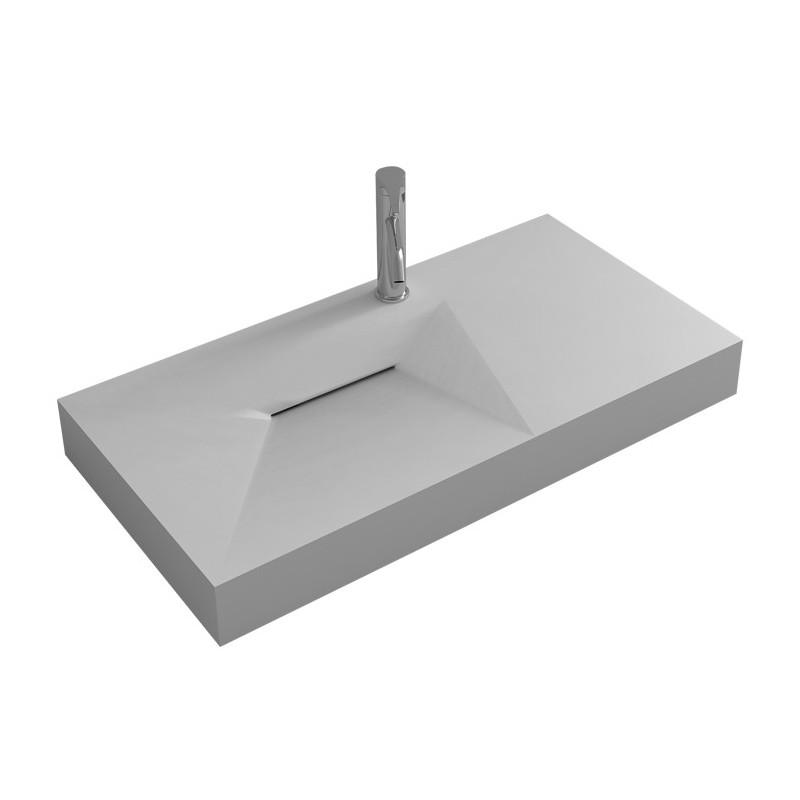 Plan vasque design avec évacuation linéaire SDWD38427