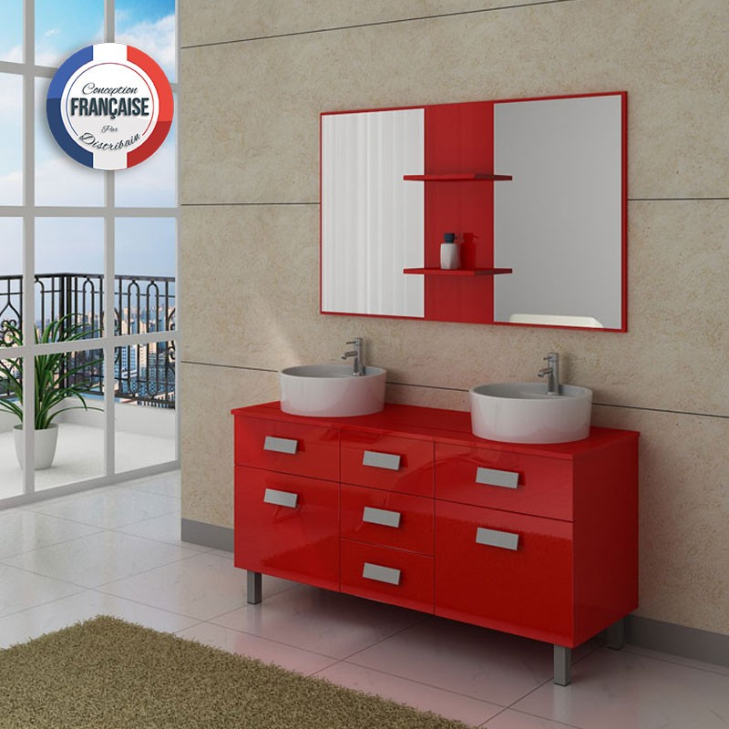 Meuble double vasque avec pied dis911co meuble de salle for Meuble double vasque avec pied
