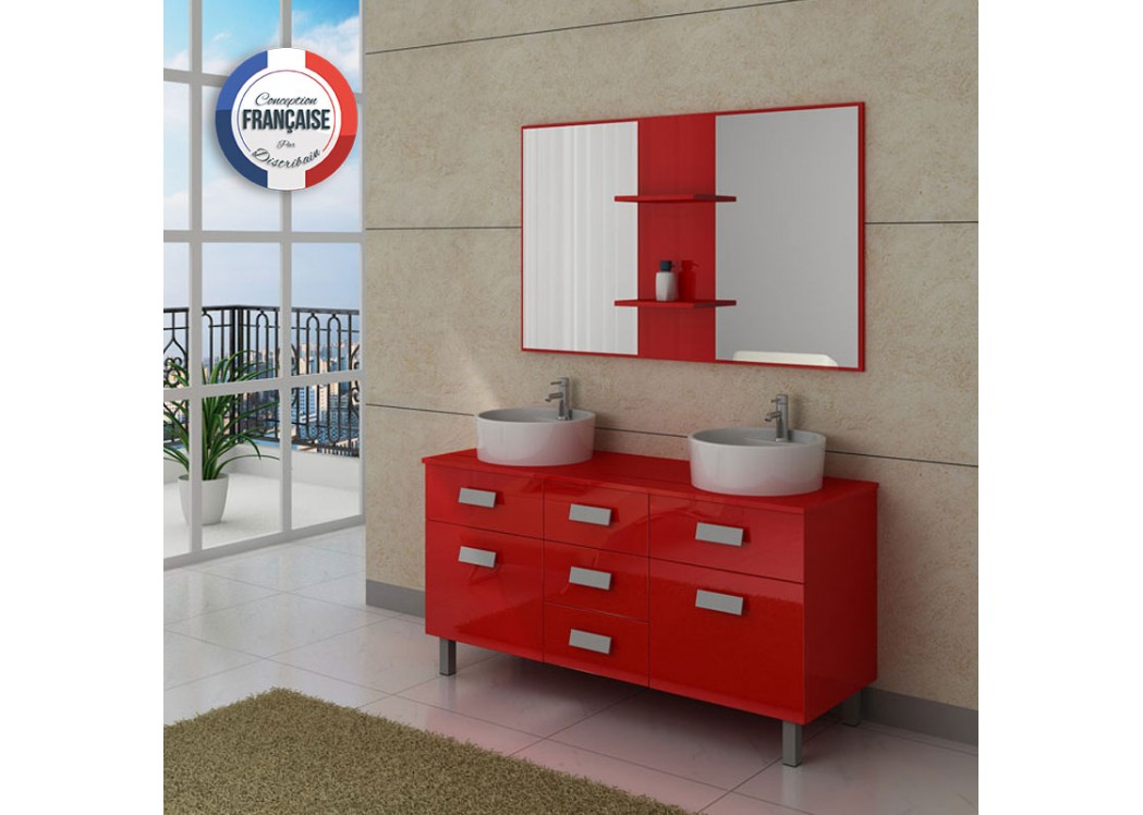 meuble double vasque avec pied dis911co meuble de salle de bain 2 vasques 140 cm rouge. Black Bedroom Furniture Sets. Home Design Ideas