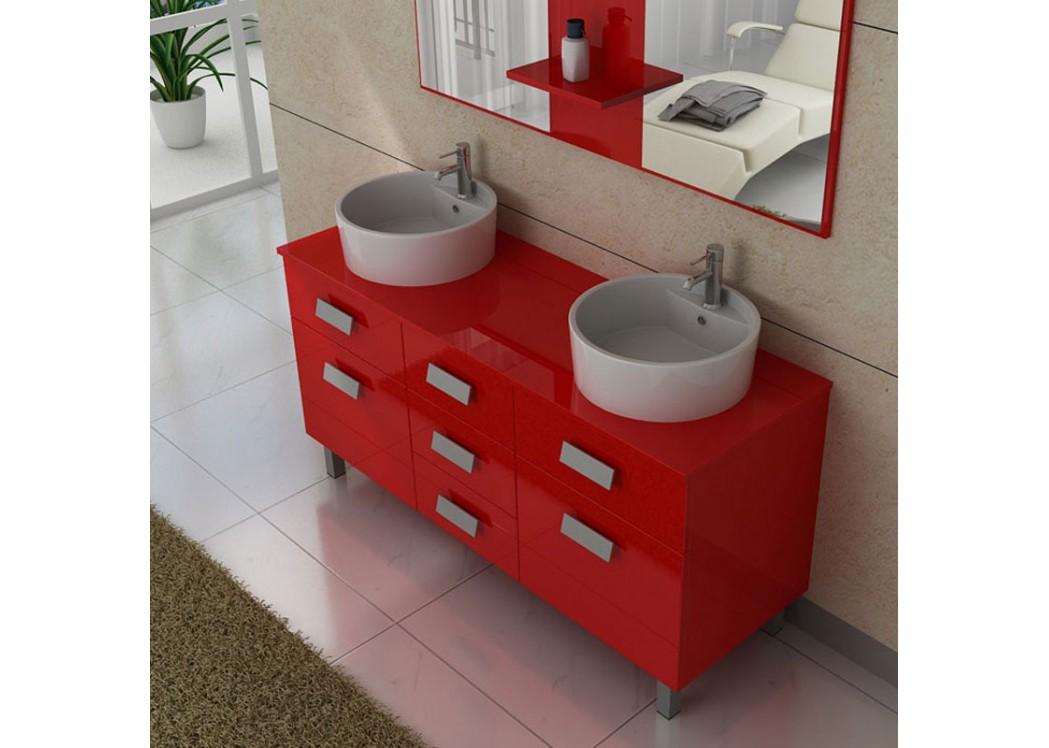 Meuble double vasque avec pied dis911co meuble de salle for Meuble de salle de bain deux vasques