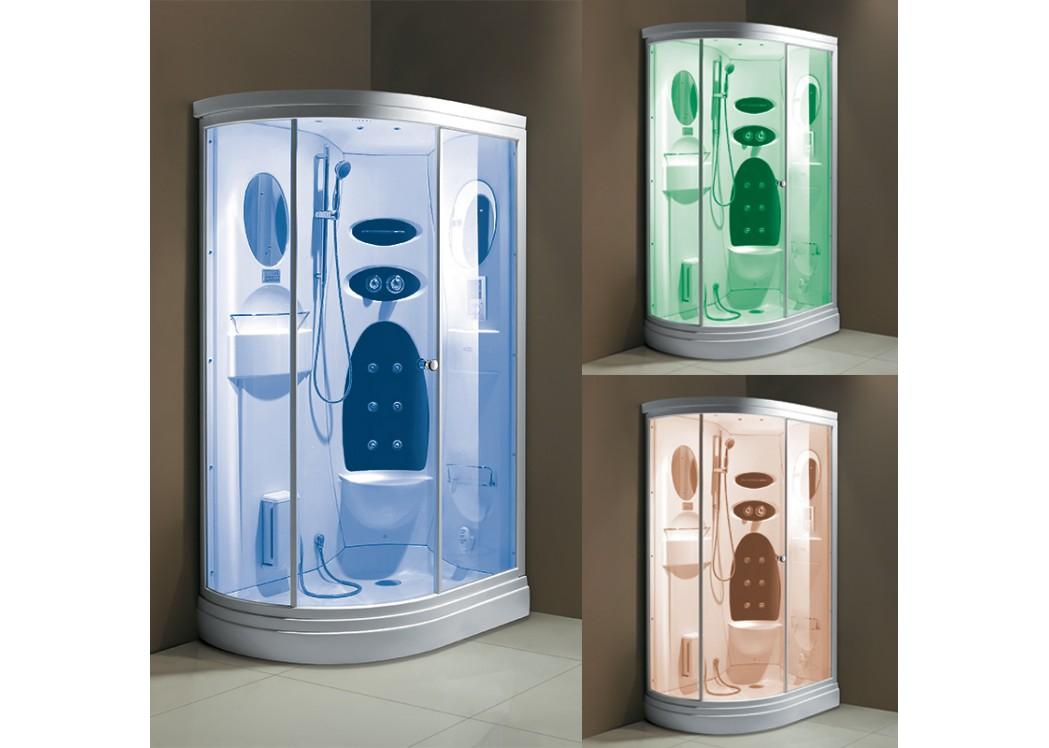 Cabine de douche de chromoth rapie d niagara cabine de douche ovale 120x85 distribain - Cabine de douche chromotherapie ...
