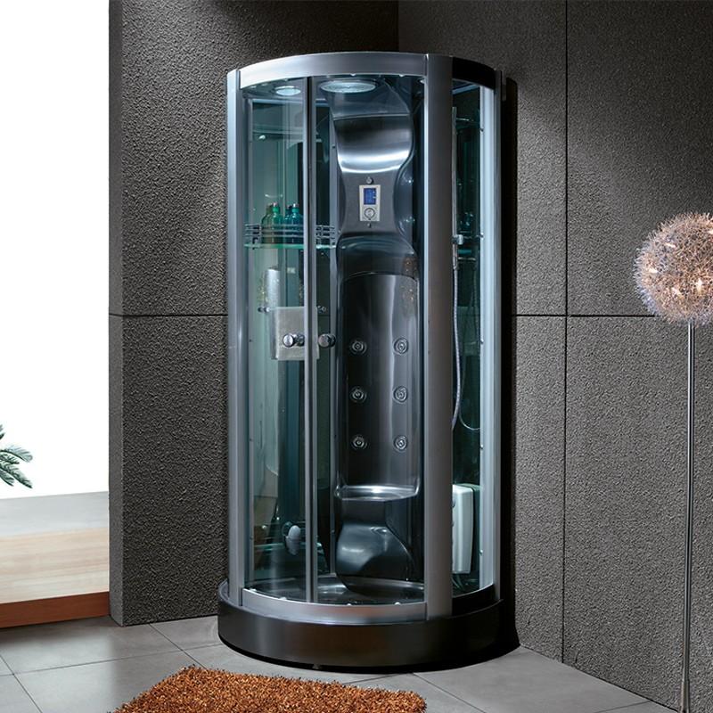 Cabine de douche avec jets Calypso Black