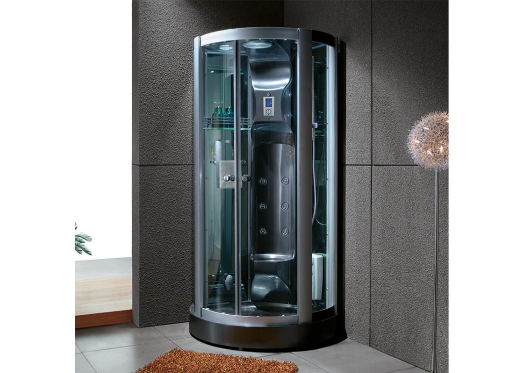 cabine de douche noire design calypso black cabine de douche en quart de cercle distribain. Black Bedroom Furniture Sets. Home Design Ideas