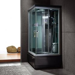 Cabine de douche de luxe hydromassante Waïkini Black