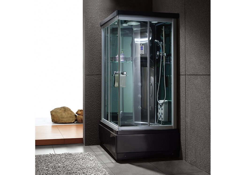 cabine de douche hammam wa kini black. Black Bedroom Furniture Sets. Home Design Ideas