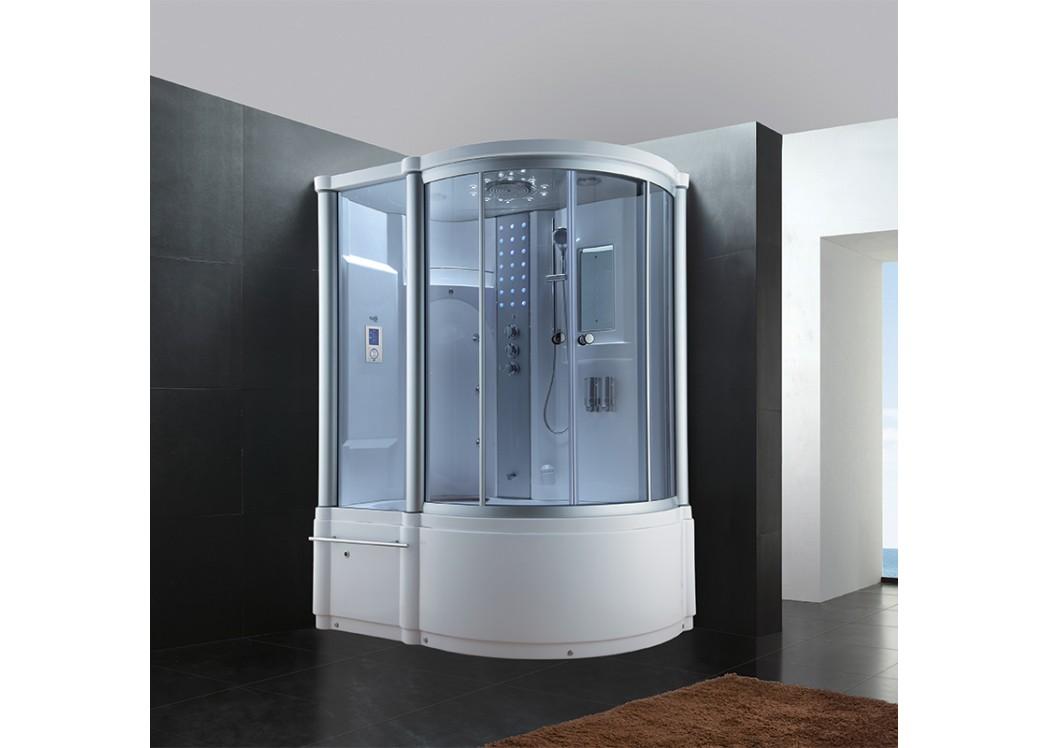 baignoire et douche combin e de luxe 160x100 baignoire et douche 2 en 1 g baleares distribain. Black Bedroom Furniture Sets. Home Design Ideas