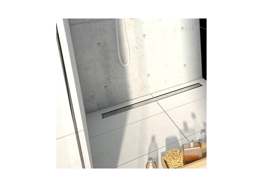 Grand receveur de douche carreler jackon avec caniveau for Grand receveur de douche