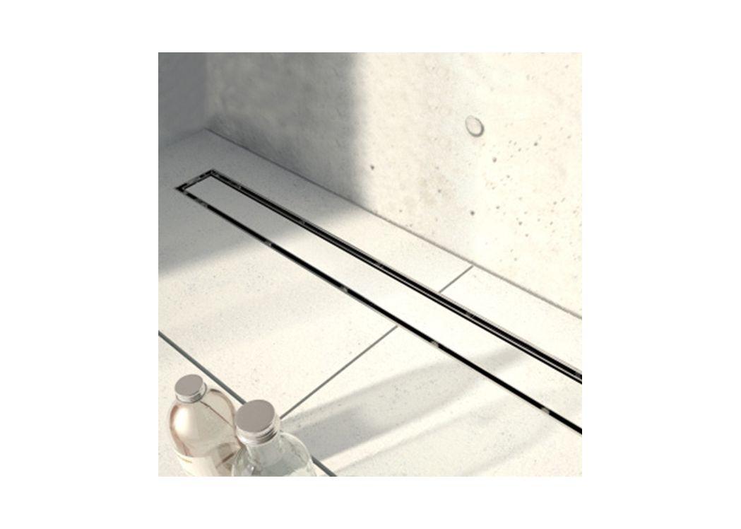 grand receveur de douche rectangulaire carreler jackon avec caniveau. Black Bedroom Furniture Sets. Home Design Ideas