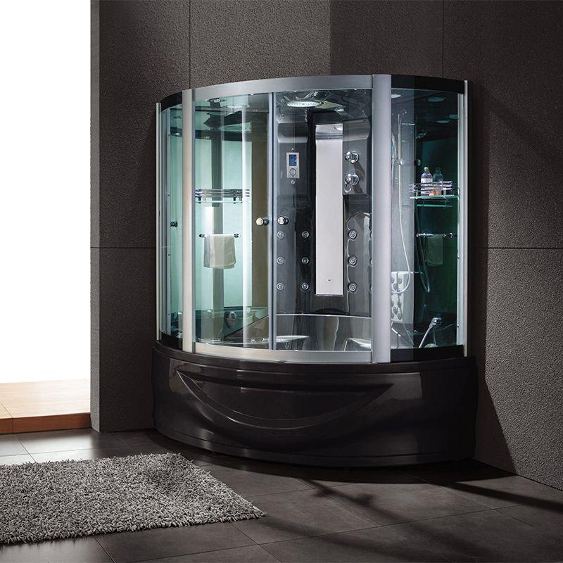 Cabine de douche deux en un Capri Black